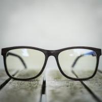 Wayfarer Style Wood Optical Glasses Frame, Large