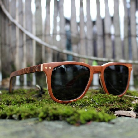 Square Wayfarer Burl Wood Sunglasses