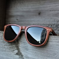 Square Wayfarer Burl Wood Sunglasses
