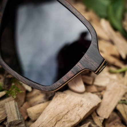 Aviator Square, Ebony Wood Sunglasses