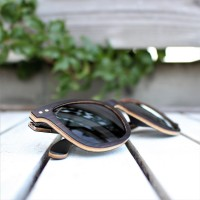 Square Wayfarer Ebony Wood Sunglasses