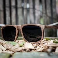 Flat Top Style Walnut Wood Sunglasses