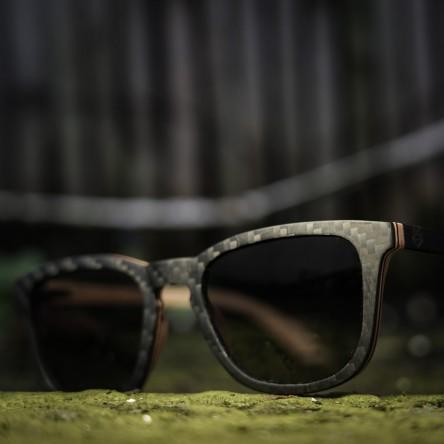 Square Wayfarer CARBON Wood Sunglasses