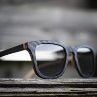 Square Wayfarer CARBON Wood Sunglasses