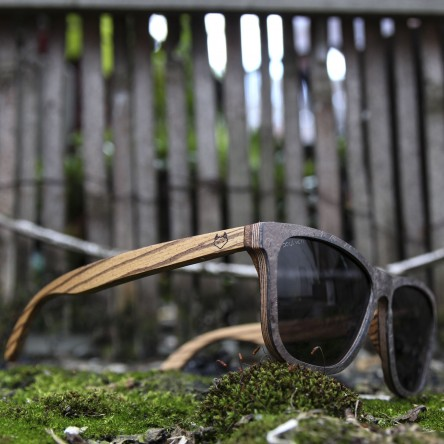 Stone and Wood Wayfarer Sunglasses Grey