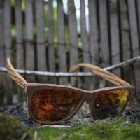 Stone and Wood Wayfarer Sunglasses Red Orange Mirrored