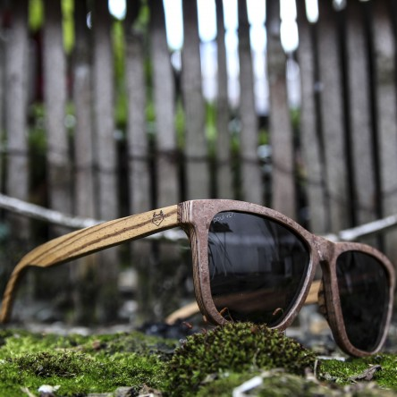 Stone and Wood Wayfarer Sunglasses Red
