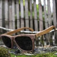 Stone and Wood Wayfarer Sunglasses Red