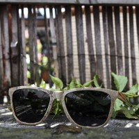 Stone and Wood Wayfarer Sunglasses White