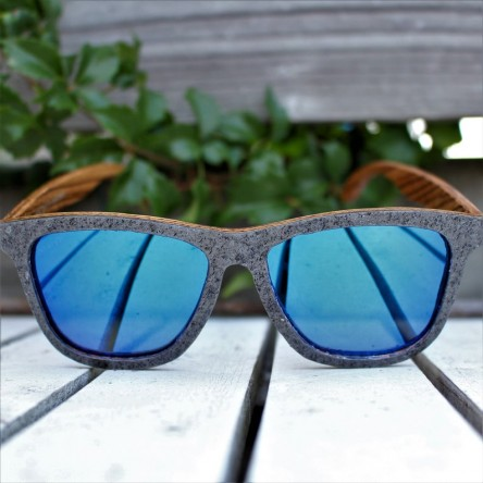Stone and Wood Wayfarer Sunglasses Original, Blue Mirrored