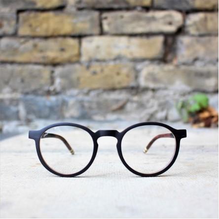 Round Style Wood Optical Glasses Frame