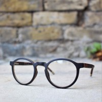 Round Style Wood Optical Glasses Frame