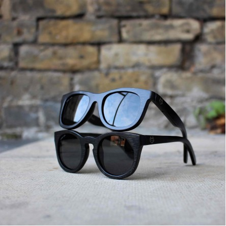 Kids Wayfarer Bamboo Wood Sunglasses