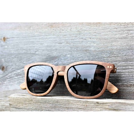 Square Wayfarer Walnut Wood Sunglasses