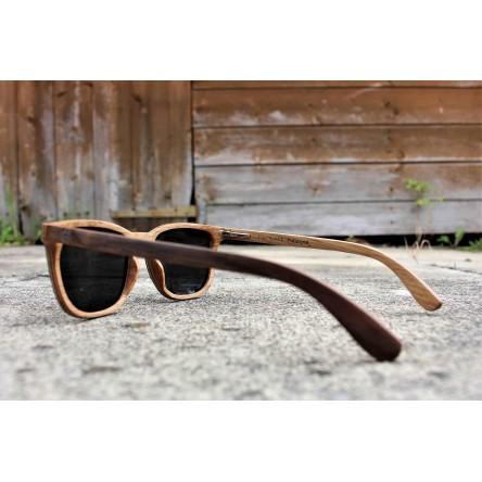 Square Wayfarer Walnut Wood Sunglasses