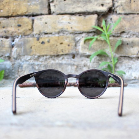 Round Style Ebony Wood Sunglasses