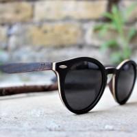 Round Style Ebony Wood Sunglasses