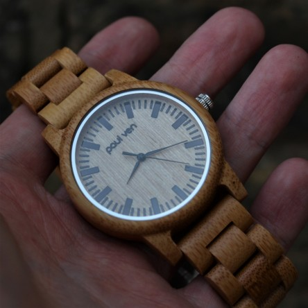 Liberty Wood Watch - Bamboo Wood Watch With Full Wooden Strap