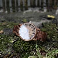Liberty Wood Watch - Walnut Wood Watch, Walnut Dial, With Full Wooden Strap