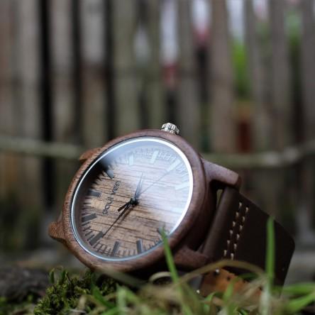 Liberty Wood Watch - Walnut Wood Watch, Walnut Dial