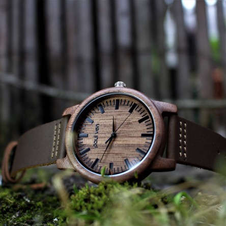 Liberty Wood Watch - Walnut Wood Watch, Walnut Dial