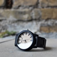 Liberty Wood Watch - Ebony Wood Watch With Full Wooden Strap